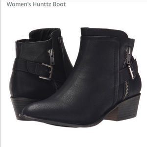 Black Ankle Booties with Buckle | Madden Girl